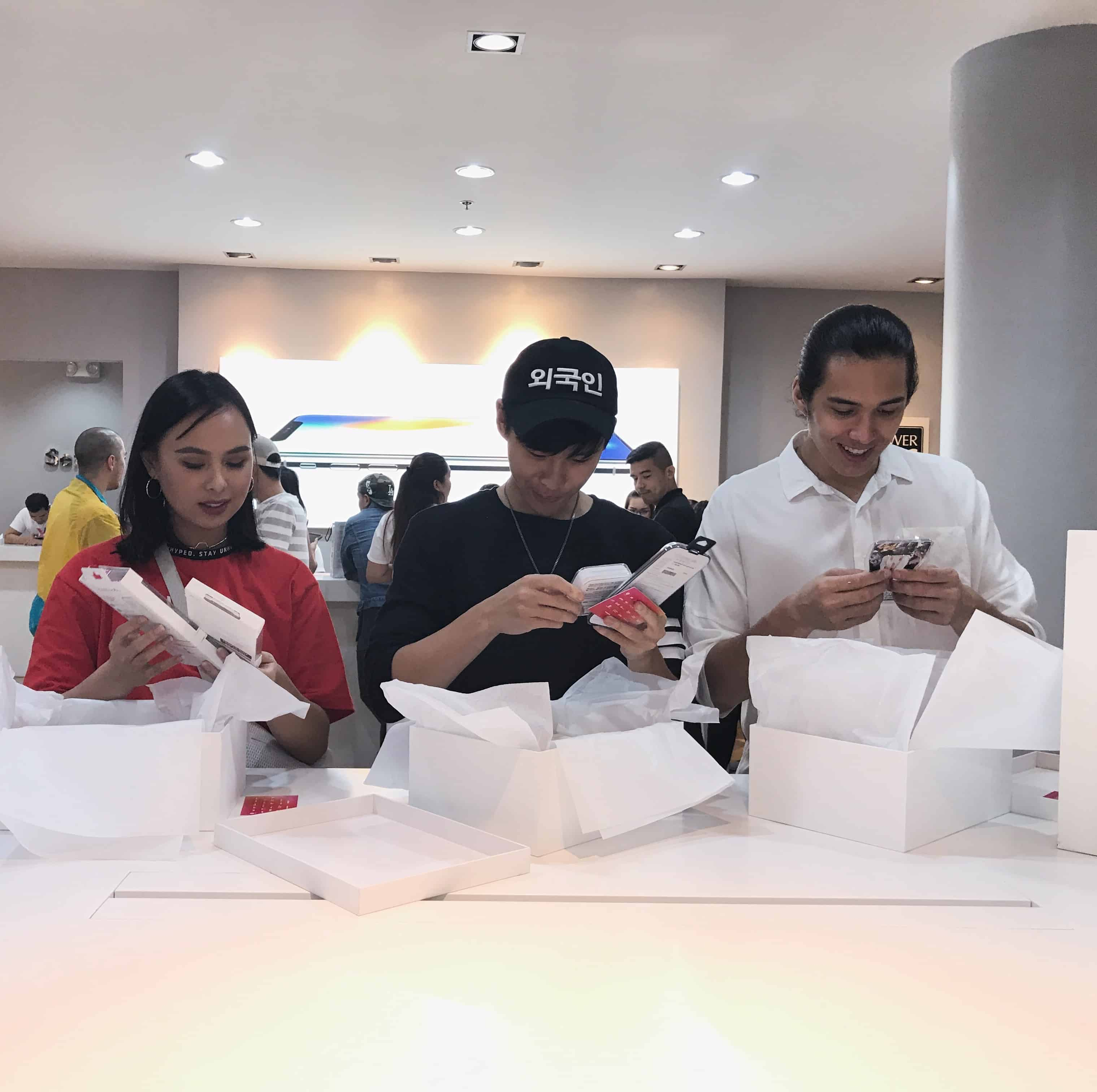 Famous people unboxing iPhone X