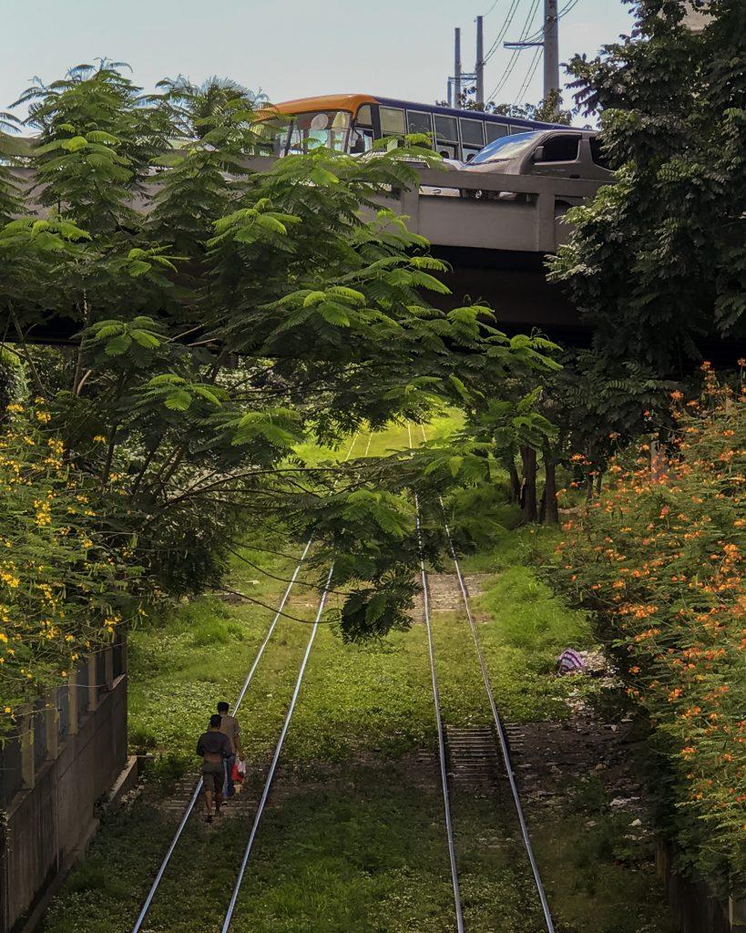 Train rails shot in iPhone