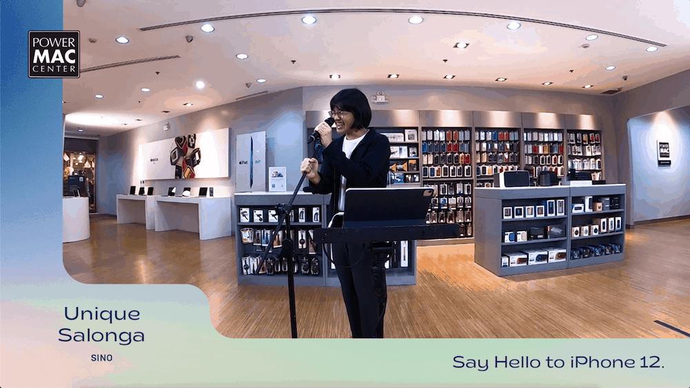 Unique singing in iPhone 12 launch